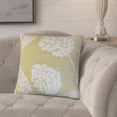 Martins Floral Cotton Throw Pillow Color: Blue