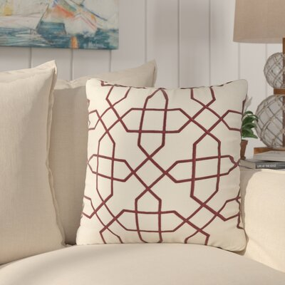 Cronin Throw Pillow Color: Red