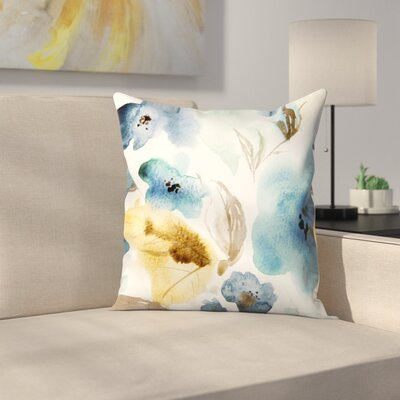 Blue Throw Pillow Size: 14 x 14