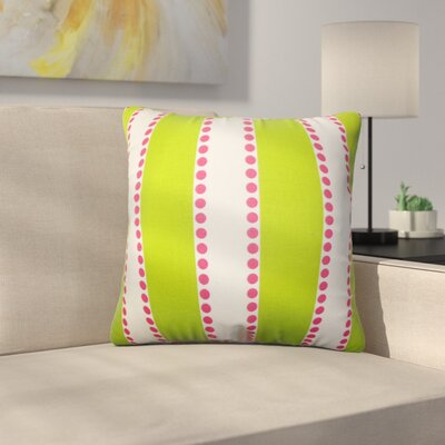 Rolston Stripes Cotton Throw Pillow Color: Green