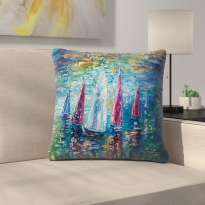 Olena Art Sails to Night Throw Pillow Size: 16 x 16