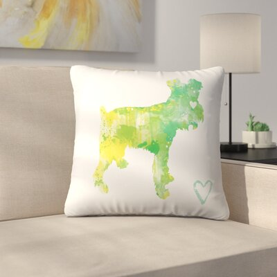 Miniature Schnauzer Throw Pillow Size: 20 x 20