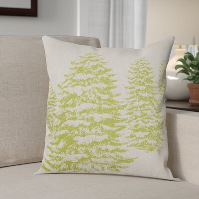 Winter Forest Linen Throw Pillow Color: Chartreuse Green