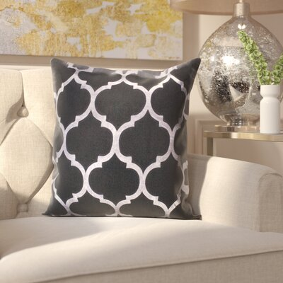 Cosentino Indoor/Outdoor Trellis Throw Pillow Color: Black