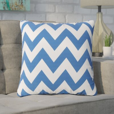 Swigart Square Indoor/Outdoor Throw Pillow Color: Blue/White