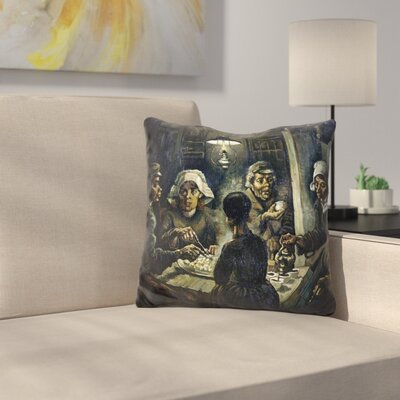 The Potato Eaters Throw Pillow