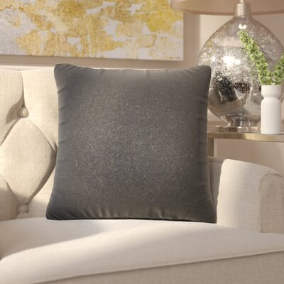 Ambriz Solid Throw Pillow Color: Black