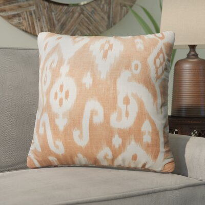 Petrina Throw Pillow Color: Orange