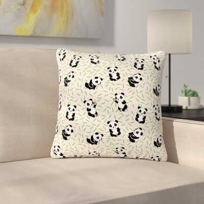 Billington Little Cute Pandas Outdoor Throw Pillow Size: 16 H x 16 W x 5 D