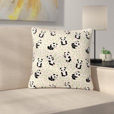 Billington Little Cute Pandas Outdoor Throw Pillow Size: 18 H x 18 W x 5 D