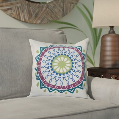 Bridgehampton Geometric Print Square Throw Pillow Size: 26 H x 26 W, Color: Teal