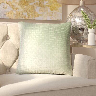 Vadim Solid Down Filled Throw Pillow Size: 18 x 18, Color: Seafoam