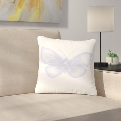 Jennifer Rizzo Lavender Butterfly Outdoor Throw Pillow Size: 18 H x 18 W x 5 D