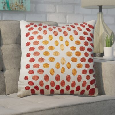 Hill Poly Slub Throw Pillow Color: Gray and Orange