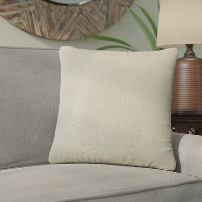 Tricia Geometric Cotton Throw Pillow Color: Tan