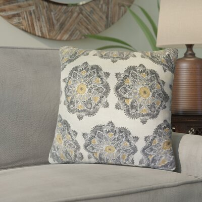 Umatilla Damask Down Filled 100% Cotton Throw Pillow Size: 22 x 22, Color: Graystone
