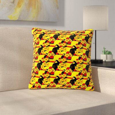 Shirlei Patricia Muniz Love Toucans Floral Outdoor Throw Pillow Size: 16 H x 16 W x 5 D
