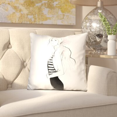 Birrell Bows and Stripes Throw Pillow