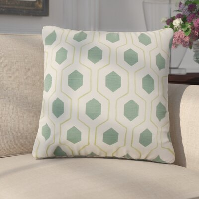 Edmondo Geometric Cotton Throw Pillow Color: Green