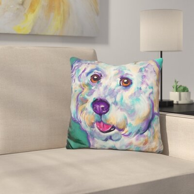 Bichon Ruben Throw Pillow