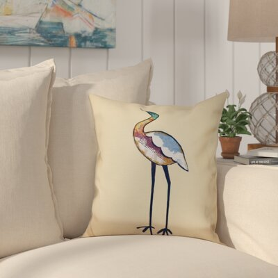 Cedarville Bird Fashion Animal Print Outdoor Throw Pillow Size: 18 H x 18 W, Color: Yellow