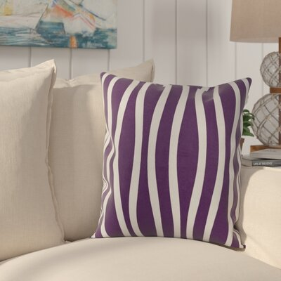 River Ridge Wavy Throw Pillow Size: 18 H x 18 W, Color: Purple