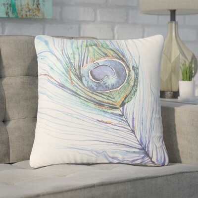 Pipkin Peacock Feather Throw Pillow