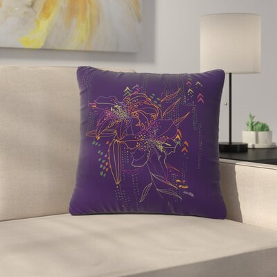 Karina Edde Hibiscus Abstract Outdoor Throw Pillow Size: 16 H x 16 W x 5 D