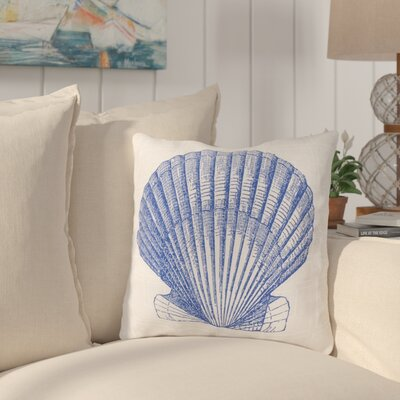Chaucer Shell of the Sea Outdoor Throw Pillow Size: 20 H x 20 W x 4 D