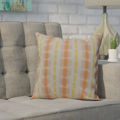 Leal Watercolor Stripe Indoor/Outdoor Throw Pillow Size: 16 H x 16 W, Color: Yellow