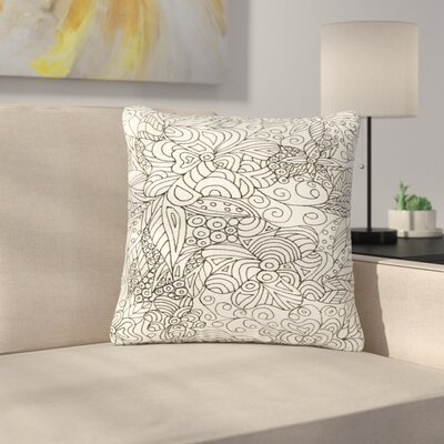 Rosie Brown Zentangle Garden Zentangle Outdoor Throw Pillow Size: 18 H x 18 W x 5 D