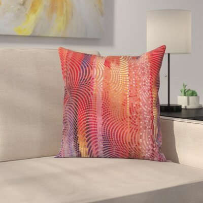 Graphic Print Pillow Cover with Zipper Size: 18 x 18