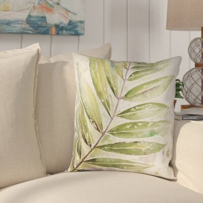 Ellsworth Square Watercolor Outdoor Throw Pillow