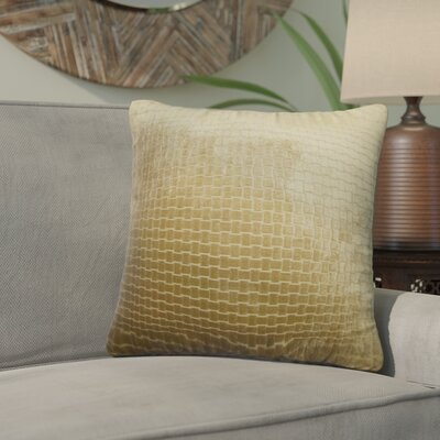 Karen Solid Throw Pillow Color: Brown