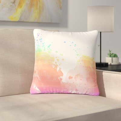 Splatter Outdoor Throw Pillow Size: 16 H x 16 W x 5 D
