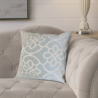 Throw Pillow Color: Seafoam, Size: 22 x 22