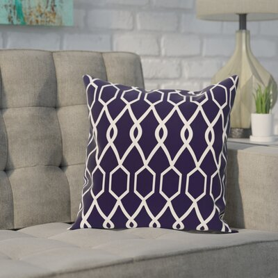 Bronstein Geometric Print Throw Pillow Size: 26 H x 26 W x 1 D, Color: Spring Navy