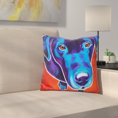 Lab Olive Throw Pillow