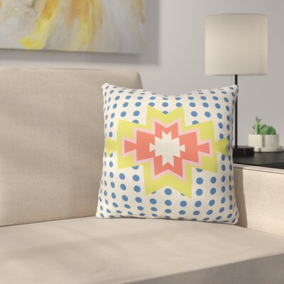 Southest Pin Dot Polyester Throw Pillow Size: 18 H x 18 W x 5 D, Color: Blue