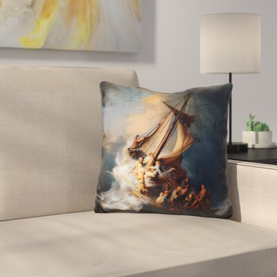 The Storm on the Sea of Galilee Throw Pillow