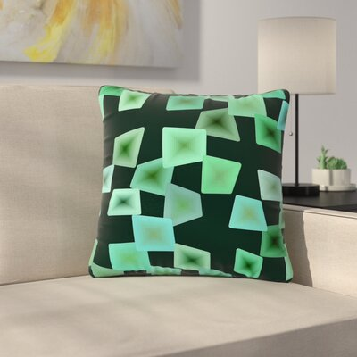 Mimulux Patricia No Seaglass on the Shore Digital Outdoor Throw Pillow Size: 18 H x 18 W x 5 D