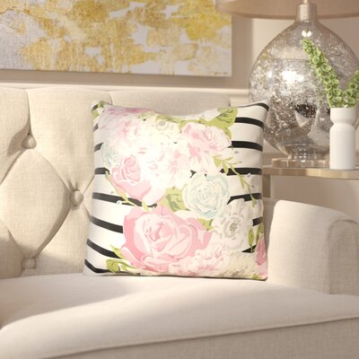 Langridge Indoor/Outdoor Throw Pillow Size: 18 H x 18 W x 3 D, Color: Pink