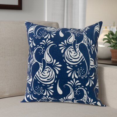 Klassen Indoor/Outdoor 100% Cotton Pillow Cover Color: Navy Blue/White