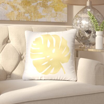 Keeley Palm Cotton Throw Pillow