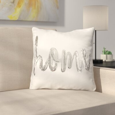 Blazer Shimmering Sequin Home Script Throw Pillow