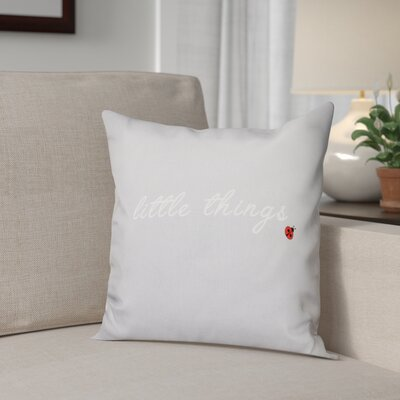 Scotland Little Things Throw Pillow Size: 18 H x 18 W, Color: Gray
