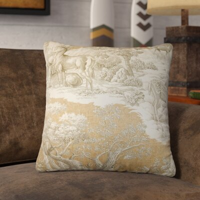 Ashcraft Toile Front Cotton Throw Pillow Color: Safari Front, Size: 20 x 20