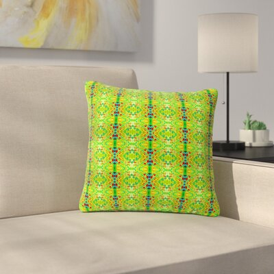 Bruce Stanfield Rage Against the Machine Outdoor Throw Pillow Size: 16 H x 16 W x 5 D, Color: Green