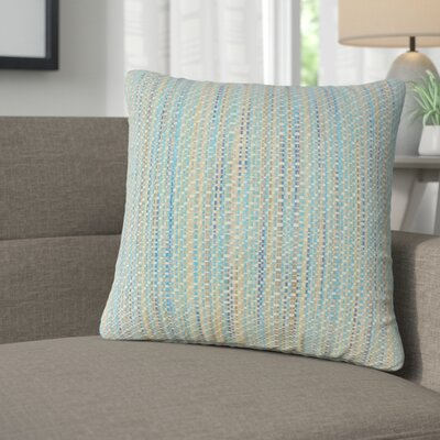 Avah Stripes Throw Pillow Color: Lagoon
