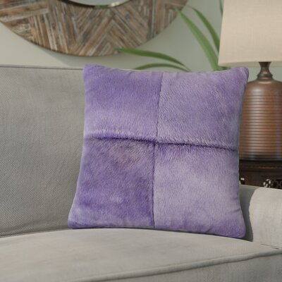 Graham Plain Throw Pillow Color: Purple